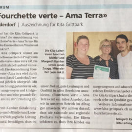 (Deutsch) Artikel aus Oberbaselbieter Zeitung vom 18. August 2017