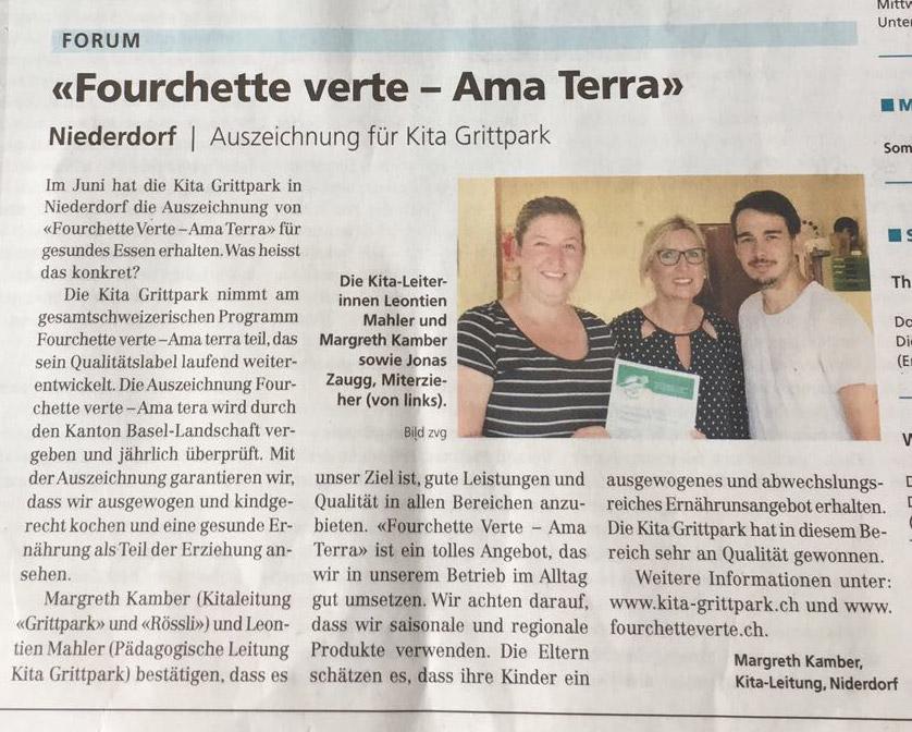 Artikel aus Oberbaselbieter Zeitung vom 18. August 2017
